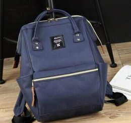 Japan Anello Original Backpack Rucksack Unisex Canvas Quality School Bag  Campus bag Big Size ba119f0a006c5