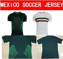 feed693cd90 ... Top thai quality 17 18 Mexico national football jersey 2017 CHICHARITO  home green Long Sleeve G Mexico Soccer ...