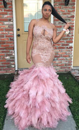 Barato Vestidos De Noite Feitos De Penas-Lace Appliqued Long Prom Dresses Custom Made 2017 Illusion Neck Plus Size Saias de penas Vestidos formais Evening Wear Vestidos de festas formales