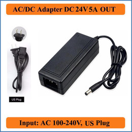 24v charger 5a Canada - 24V 5A AC DC Adapter US Plug Adequate AC100V-240V Converter to DC 24V 120W Power Supply 5.5mm x 2.5mm Charger for LED Strip