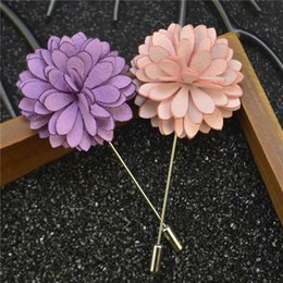 $enCountryForm.capitalKeyWord NZ - price cheap luxury flower brooch lapel pins with retal gift box Handmade boutonniere stick with cloth Chrysanthemum for Gentleman suit wear