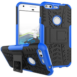 Hard case cover for asus online shopping - Stand Hybrid Tire Armor Hard PC Case For Google Pixel XL OPPO F1S Xiaomi S Plus Lenovo K6 ASUS Zenfone Max in Tyre Phone Skin Cover