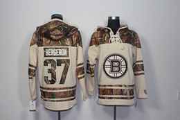 bruins jersey sweatshirt UK - Top Quality ! 2017 New Boston Bruins Old Time Hockey Jerseys 37 Patrice Bergeron Camo Hoodie Pullover Sweatshirts Sport Winter Jacket