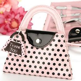 $enCountryForm.capitalKeyWord Canada - 'Pink Polka Purse' Manicure Set Pedicure Wedding Party Gifts Party Favors Party Supplier 20pcs lot Free Shipping