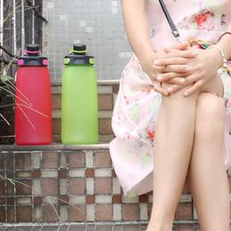 $enCountryForm.capitalKeyWord NZ - Plastic Frosted Water Cup Creative Fashion Kettle 900ML High Capacity Leak Proof Portable Outdoor Sport Bottle 22 68jm J R