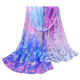 Design Shawl Chiffon UK - Wholesale- Spring Style Long Chiffon Silk scarves Women Design Floral print Shawl Wrap Woman Scarf infinity Ladies scarves wholesales 2017