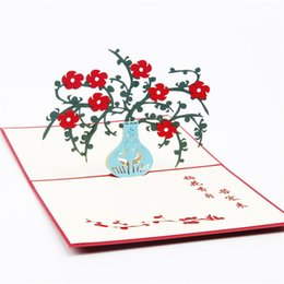 Shop laser cut 3d greeting cards uk laser cut 3d greeting cards 5 photos laser cut 3d greeting cards uk 10pcs lot laser cut invitations 3d cubic plum blossom m4hsunfo
