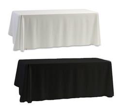 Venta al por mayor de Cubierta de tabla al por mayor del mantel negro blanco para la decoración del banquete de boda del banquete 145x145cm