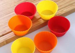 $enCountryForm.capitalKeyWord Australia - 1000pcs lot, Silicone Cupcake Cases Round Shaped Cake Baking Molds Cup Set Kitchen Craft Tool Bakeware Pastry Tools Cake Mold