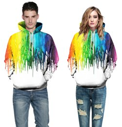 2017 Hot Splash paint Hoodies Hombres / Mujeres Sudaderas Con Capucha Con Cap 3d Sudadera Print Paint Hoody Chándales Pullover Tops