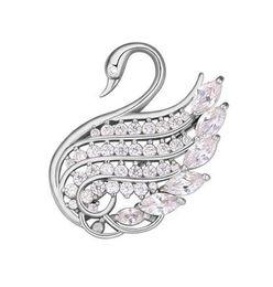 Superb 18K Gold Plated Brooch Women Wholesale Brand New Fashion Elegant Luxury AAA Cubic  Zirconia Brooch Pins Jewelry TB006