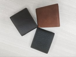 Wholesale Short Men s business and casual cow Leather Genuine Bifold Coin and Credit card holders packet Wallet