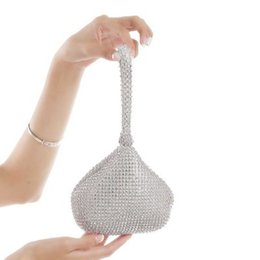 China Special Occasion Women Fashion Bridal Hand Bags Wedding Events Party Diamond Crystal Beaded Bag Wallet Bridal Accessories CPA959 cheap wedding hand purses suppliers