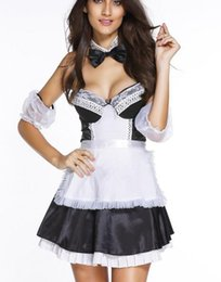 Maillot Costume Pas Cher-Costume Sexy Femmes Europe Dindes Vêtements Naughty Performance Sexy Services Spéciaux Maid Costumes Sexy Pour Femmes