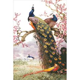 $enCountryForm.capitalKeyWord Canada - diy diamond painting plum blossom peacock pasted painting fashion home decoration handmade ornaments gift 40x60cm HWB-729