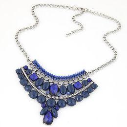 4a8bbc4ae901 8 Fotos Compra Online Collares coloridos de las gemas-Nuevo Colorido Maxi  Vintage Collares Colgantes Moda Mujer