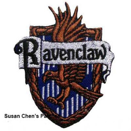 Barato Remendos De Ferro Harry Potter-Harry Potter Ravenclaw Iron on Patches Embroidery Patches 10pca muito