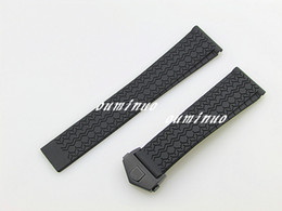 Tags Heuer Canada - 22mm New Top grade Thin Black Diving Silicone Rubber Watch Band Strap With Black Deployment Clasp