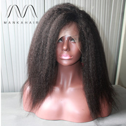 $enCountryForm.capitalKeyWord Canada - Hair Wigs For Black Women Natural Color kinky Straight Human Hair Wigs Glueless Full Lace Wig With Baby Hair