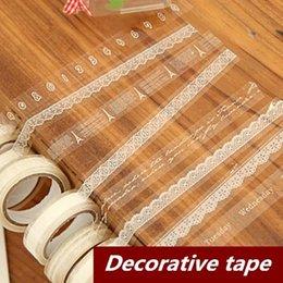 $enCountryForm.capitalKeyWord Canada - 10 pcs Lot Lace Adhesive tape Japanese masking tape Decorative stickers Stationery Scrapbooking sticky School supplies 6602