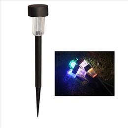 LED Solar Light Outdoor Solare prato giardino luci percorso di paesaggio Palo lampada solare plastica LED Spike Lights
