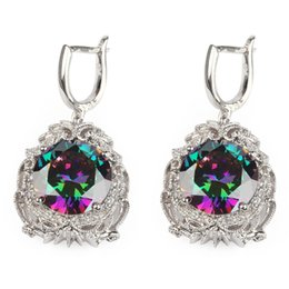 $enCountryForm.capitalKeyWord NZ - Copper Rhodium Plated Romantic Earrings Promotion Rainbow Fire Mystic Cubic Zirconia MN3596 Shinning Favourite Best Sellers The new product