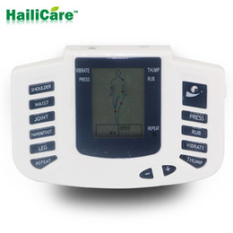 Electrical Stimulator Canada - New Electrical Stimulator Full Body Relax Muscle Massager Pulse TENS Acupuncture with Therapy Slipper 4 Electrode Pads JR309