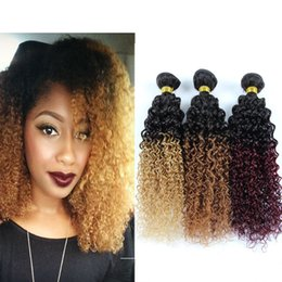 Discount tissage ombre hair 2017 tissage human hair ombre on ombre curly hair extensions 3 bundles human hair two tone ombre brazilian hair weave women cheveux tissage cheap tissage ombre hair pmusecretfo Gallery