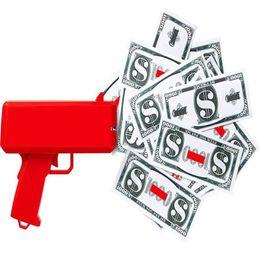 2017 Hot Cash Money Gun Toy Funny New Money Gun con paquete de caja Party Toy Cash Cannon Money Gun