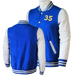 Chinese  Factory shop fall men's fashion hoodie sweatshirt sportswear men's casual patchwork Slim 35 Durant liar and castle baseball c manufacturers