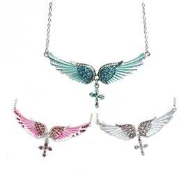 Shop wing pendant diamond uk wing pendant diamond free delivery to hot sale statement choker necklace angel wings cross pendants necklaces for women gifts fashion diamond jewelry aloadofball Image collections