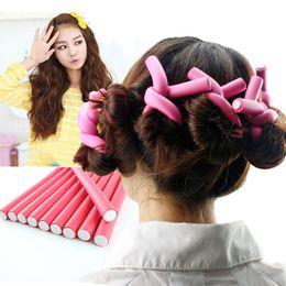$enCountryForm.capitalKeyWord Australia - Soft Hair Curlers Plastic Flex Rods For Long Hair 30pcs  Set Magic Hair Curlers Rollers With Diameter 1 .4cm Diy Curly