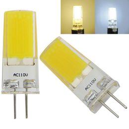 Warm Packs Australia - Pack of 10, G4 G8 Base Led bulb Flat COB 1909 AC 110V   220V Silicone Lamp White Warm Constant power Light