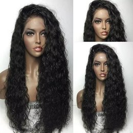 big curl hair wigs Australia - Lace Front Human Hair Wig Curly Loose Curl Pre-plucked Hairline 150 Density Peruvian Virgin Hair 360 Lace Wig Full Lace Wig Bleached Knots