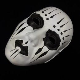 White Scary Halloween Costumes Canada - Slipknot Joey Masks Cosplay Scary White Slipknot scary Mask Adult Fancy Costume Party Masquerade Halloween Props Mask