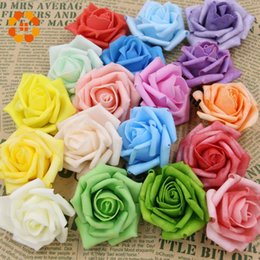 Foam Rose Heads White Australia - Hot Sale Artificial Foam Roses For Home And Wedding Decoration Flower Heads Kissing Balls For Weddings Multi Color 7 Cm Diameter
