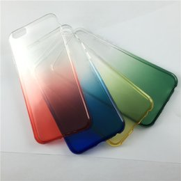 Chinese  Custom Clear Blank case in gradient color cell Phone Case for iPhone 6 6s Mobile Phone Cover manufacturers