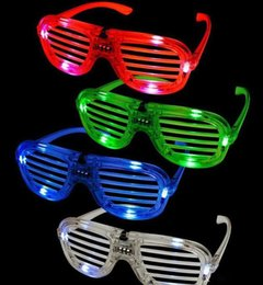 $enCountryForm.capitalKeyWord Canada - Shutters LED Glow glasses concert cheer Halloween props dance Fluorescence luminous glasses Led Toy Christmas dhl gifts