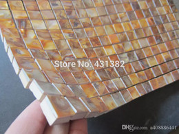Subway Brick Tiles Mother Of Pearl Tile New Arrvial Kitchen Backsplash Bathroom Wall Dyed Gold Mosaic Shell Tiles