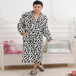 men flannel winter flannel nightgown velvet bathrobe gown lovers pajamas fleece velvet pajamas sleepwear lounge - Flannel Nightgowns