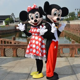 Nouveaux Costumes De Minnie Mouse Pas Cher-Mickey et Minnie Mouse Costume Mascot Cartoon Costume Adulte Taille Vêtements Party Déguisements Brand New 2pcs Suit