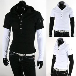 Amazing New Design Korea Slim Menu0027s T Shirts Casual Short Sleeve Shirts Hooded T  Shirt Mens T Shirts Polo Shirts Black