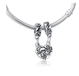 f125c48d093e3d Adatto per bracciali Pandora Madre figlia ciondola argento perline Charm  Chamilia Charms per il commercio all'ingrosso fai da te europeo collana  bracciale ...