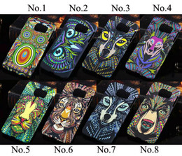 $enCountryForm.capitalKeyWord Canada - Fashion Glow in the dark Luminous king of forest lion wolf hard case back cover for samusng s6 s7 edge
