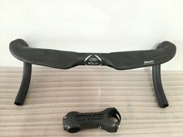 BOB guiador completa estrada de carbono moto guidão integrado com acessórios tronco bicicleta com 400/420 440 milímetros em Promoção
