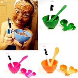 Spatula Stick Cosmetic Baratos-Venta al por mayor-Nuevo estilo 6in1 DIY Facial Face Mask Stick Mixing Bowl Pincel Spatulas Spoon Gauge Set Maquillaje Cosmetic Tool