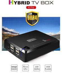 Wifi satellite tv box online shopping - Mecool KI Pro Android TV Box DVB S2 T2 DVB C Satellite TV Receiver Smart Mini PC DDR4 GB RAM GB Amlogic S905D Quad Core Wifi Media Player