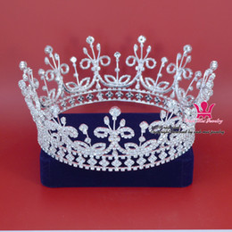 $enCountryForm.capitalKeyWord Canada - Large Full Crowns Tiaras Gorgeous King Crown Princess Prince Unisex Bridal Weddind Pageant Queen Headwear Rhinestone Fashion Jewelry Mo188