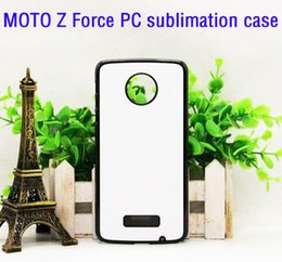 plastic moto Canada - For MOTO Z Force 2D DIY plastic sublimation blank case with insert and glue free shiping 100pcs lot