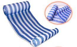 Relaxing Beds Australia - Relax Water Floating Chair Swim Pool new style Summer Outdoor Floating Stripe Sleeping Swimming Bed free shipping